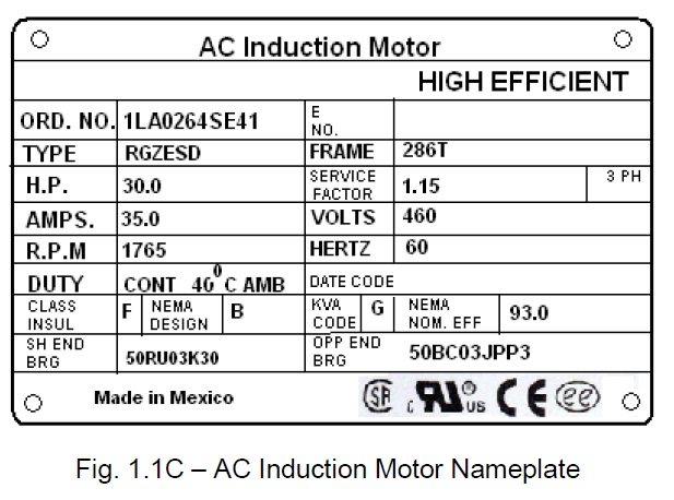 Motor Nameplate 3