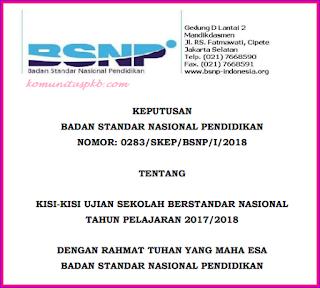 Daftar Mata Pelajaran USBN SD SMP SMA SMK 2017/2018