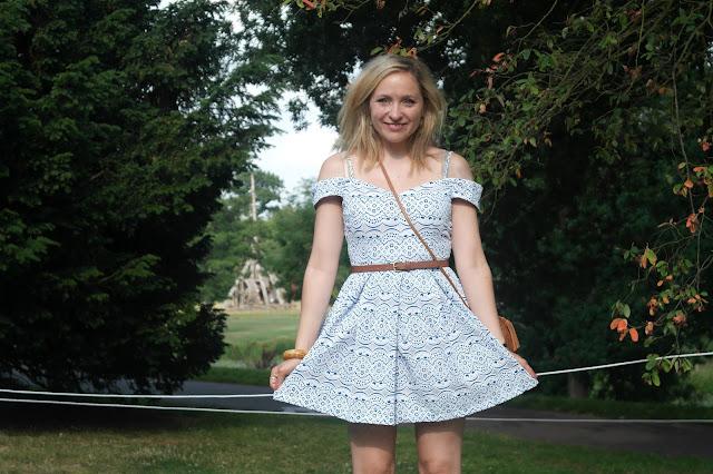 Goddiva Blue lace layer dress