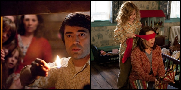 the conjuring, exorcism, horror movie, the conjuring movie scenes, ron livingston, lily taylor