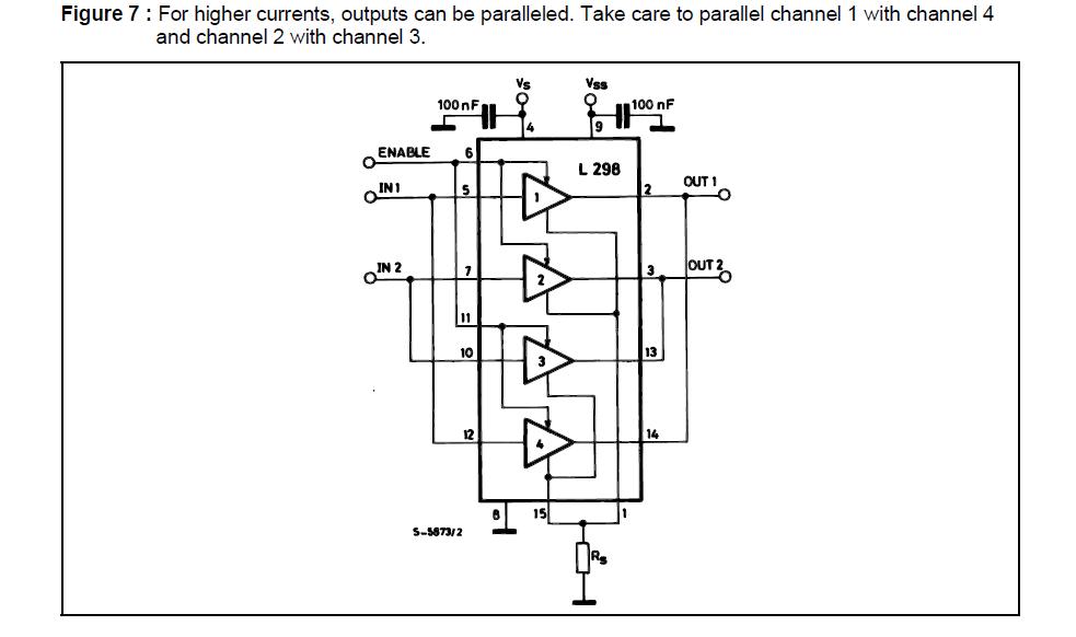 the custom made  motor controller driver circuit using l298