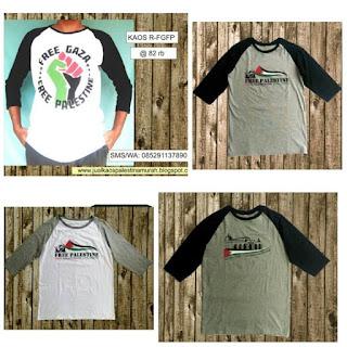 Vendor Kaos Raglan Palestina
