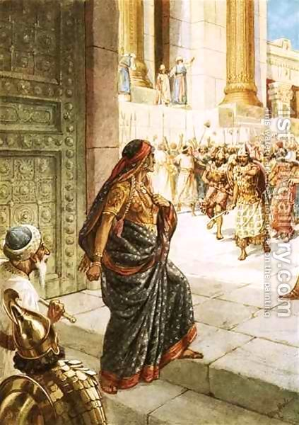 As queen, Athaliah used her power to establish the worship of Baal in Judah. Six years later, Athaliah was surprised when Jehoiada revealed that Jehoash lived and proclaimed him king of Judah. She rushed to stop the rebellion.