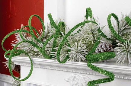 RAZ Curly Green Garland at Trendy Tree