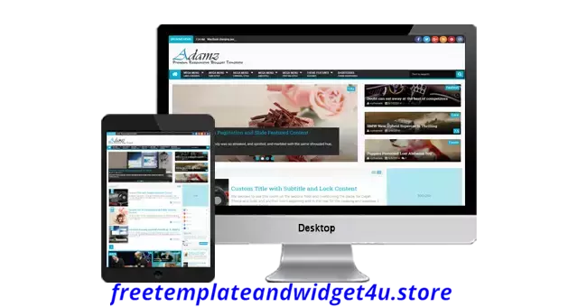 Adamz Blogger Template Free Download.