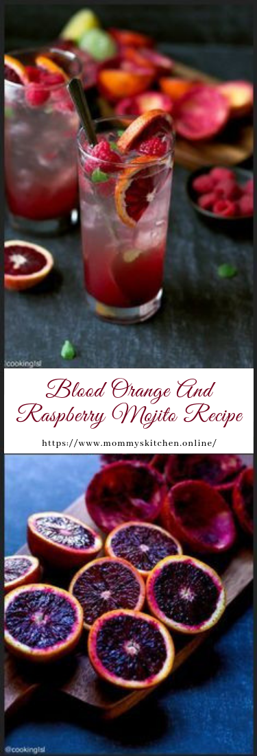 Blood Orange And Raspberry Mojito Recipe #cocktail #recipe