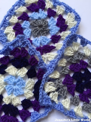 Granny square blanket in progress