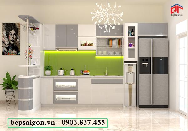 tủ bếp hiện đại, tủ bếp chữ i, tủ bếp gia đình
