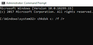 CHKDSK Memperbaiki Error Pada Harddisk Windows 7, 8, 10