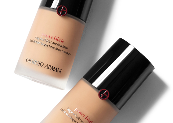 Giorgio Armani Power Fabric Longwear High Cover Foundation Review Photos Swatches Before After