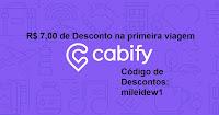 cupom de desconto cabify app aplicativo de viagem corrida transporte carona