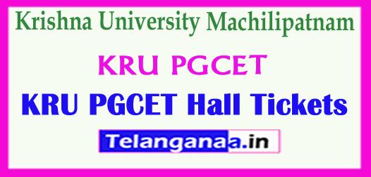 KRU PGCET Krishna University Machilipatnam PGCET Entry 2018 Hall Tickets Exam