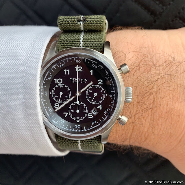 Centric Instruments Lightwell Chronograph wrist shot