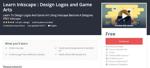 كورس Learn Inkscape : Design Logos and Game Arts مجانا