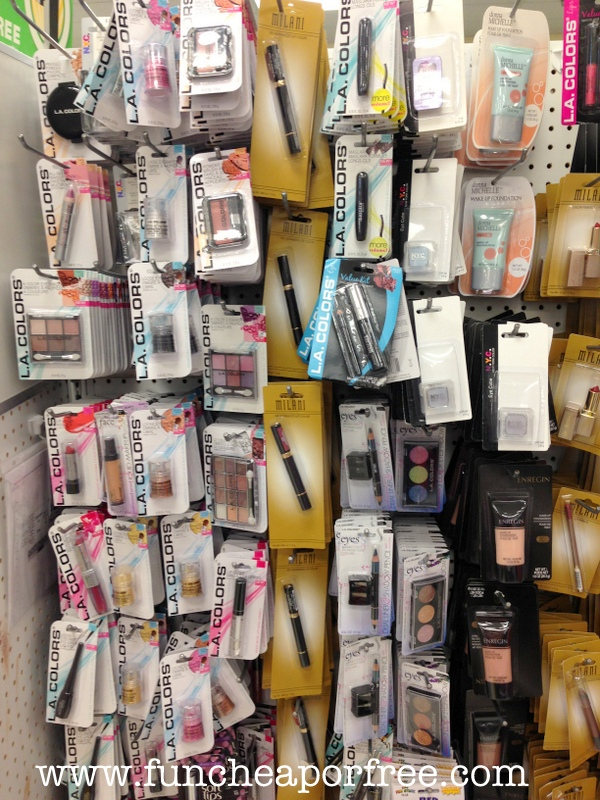 33d5f4cb6842 This one may shock many of you…but I LOVE dollar store makeup! Not all of  it of course