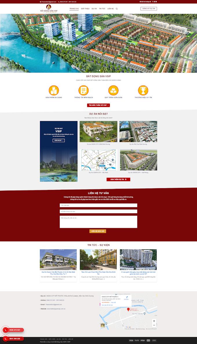 Mẫu Website Bất động sản hot 2020