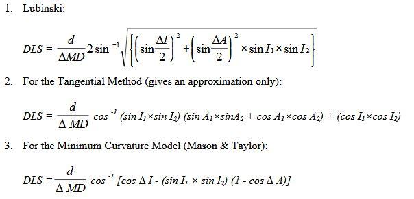 directional survey calculation method - dogleg calculation