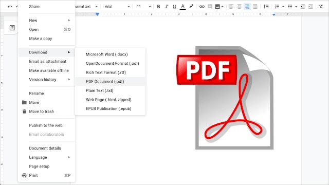 How to make a PDF from a Google Docs folder