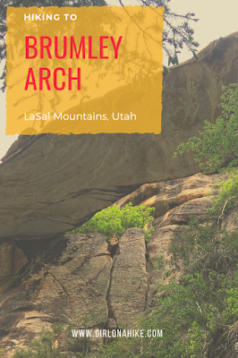 Hiking to Brumley Arch, LaSal Mountains, Hiking in Moab with Dogs