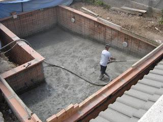 Fabricación de piscinas de hormigón