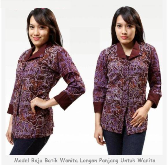 Pakaian Batik Untuk Interview Kerja: Model Baju Batik Wanita Lengan Panjang Untuk Kerja