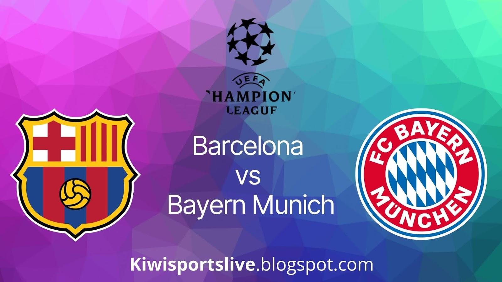 Barcelona vs Bayern Munich isl 2020 kerala blasters ipl 2020 epicsports alternative kiwisports.live
