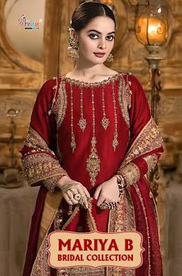 Shree fab mariya b bridal pakistani suits