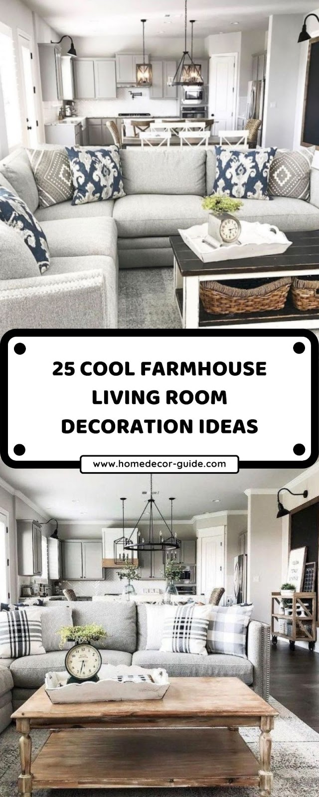 25 COOL FARMHOUSE LIVING ROOM DECORATION IDEAS