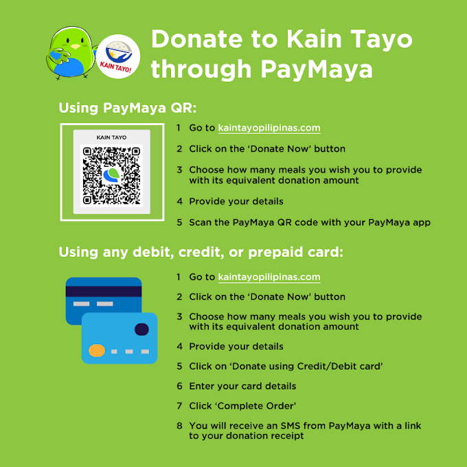 PayMaya powers online donations for Kain Tayo, Pilipinas!