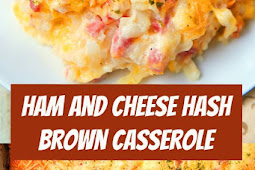 Ham and Cheese Hash Brown Casserole #casserole #ham #leftoverham #freezermeal