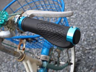 マウンテンバイク サイクル 自転車用 ハンドル グリップ UJack (青(ブルー))