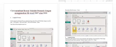 Download Cara Membuat Brosur Sekolah Otomatis Menggunakan MS Word
