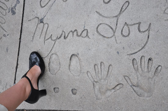 Myrna Loy footprints Grauman's Chinese Theater by Lady by Choice