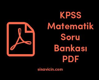 KPSS Matematik Soru Bankası PDF