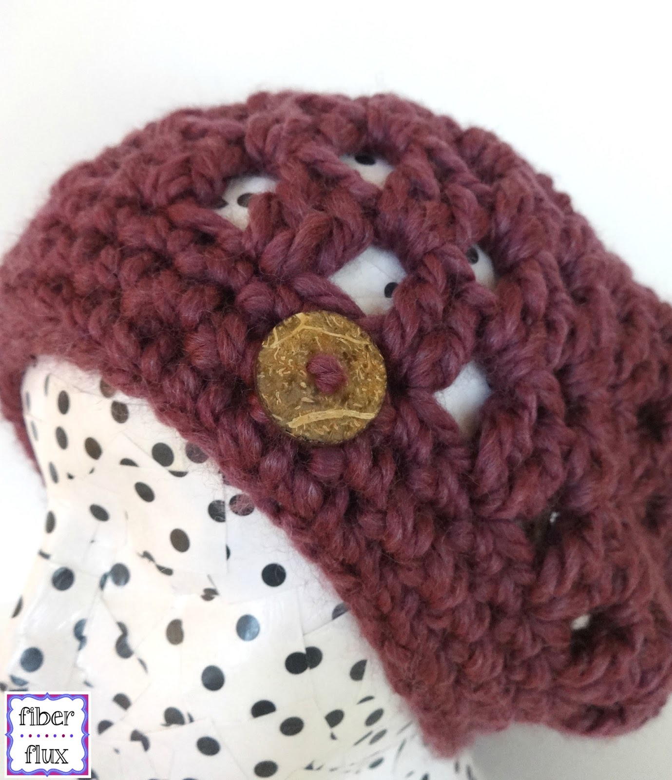 Fiber Flux: Free Crochet Pattern...Fiona Button Slouch!