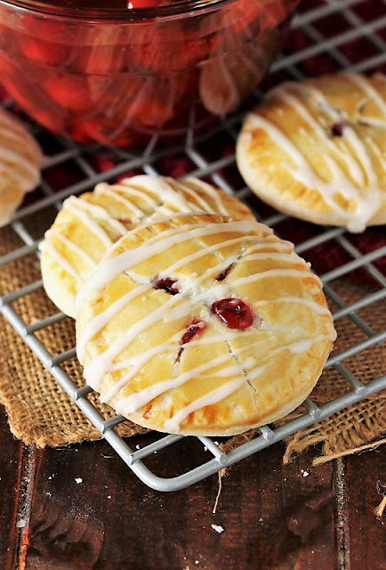 Cherry Pie Cookies on Cooling Rack Image