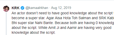 krk tweet shahrukh and salman