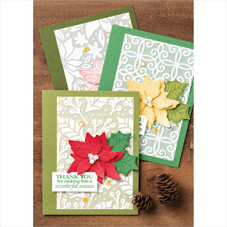 Stampin' Up! Poinsettia Petals Christmas Card ~ August-December 2020 Mini Catalog ~ #stampinup #christmas