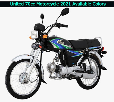 United 70cc Motorcycle 2021 Available Colors