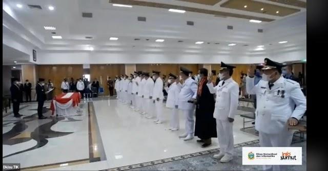 Ini Tujuh Kepala Daerah Terpilih yang Dilantik Gubernur Sumut