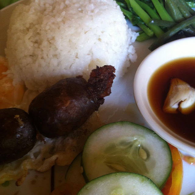 Breakfast meal - Longsilog at Marites Homestay and Restaurant in Pagudpud
