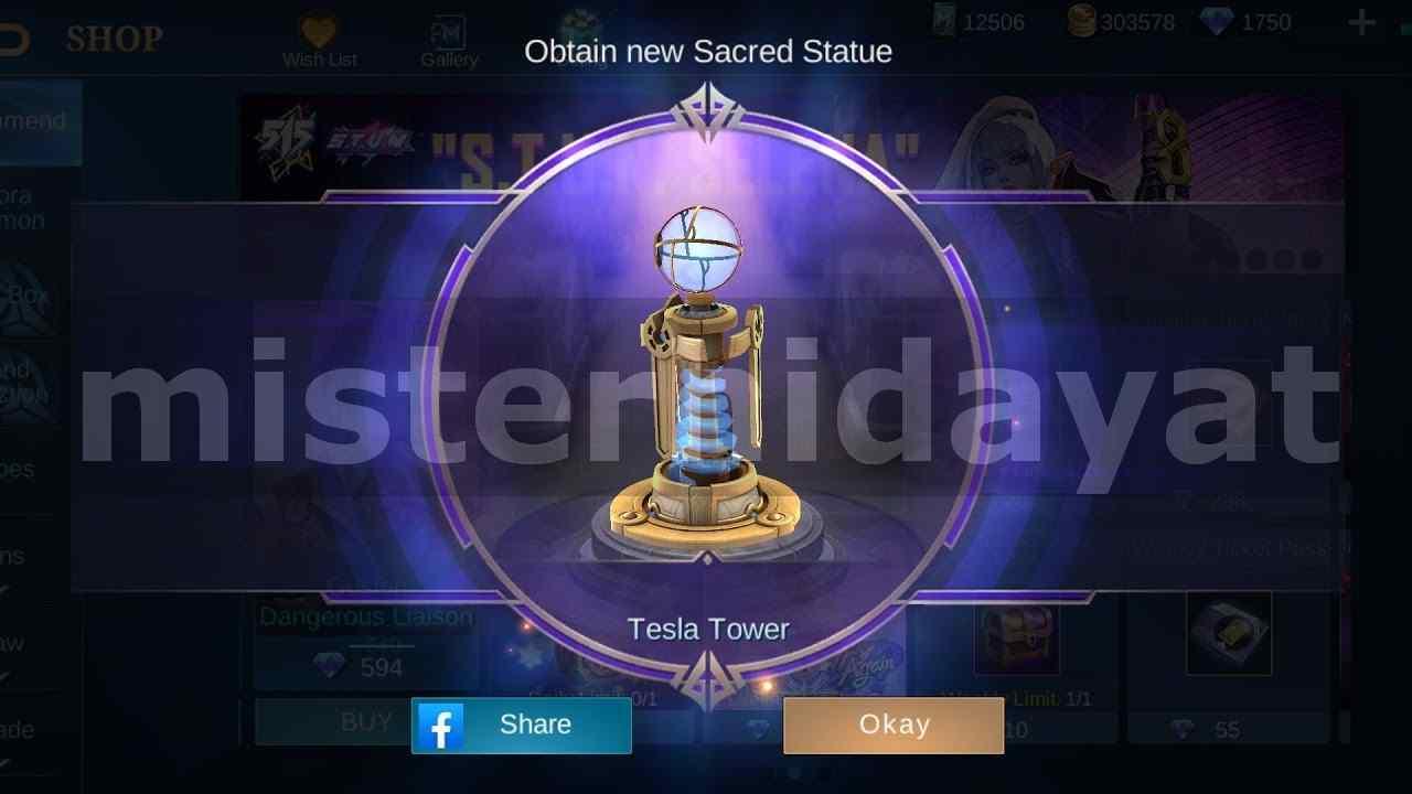 Cara Mendapatkan Sacred Statue Tesla Tower di Mobile Legends