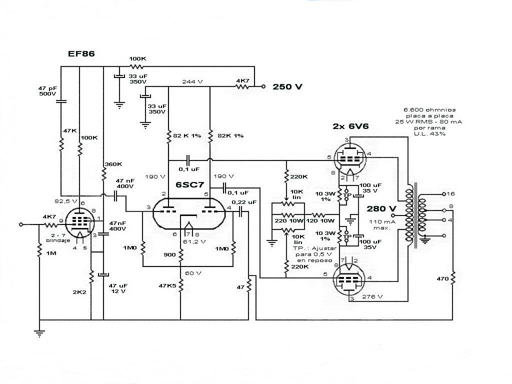 Informacion Electronica Amplificador Con 6v6