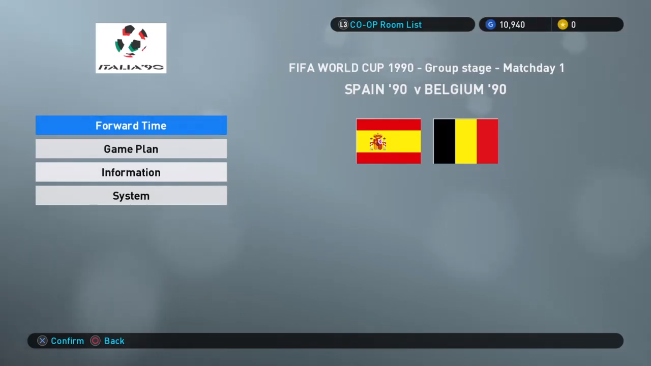 PES 2019 PS4 Classic Option File FIFA World Cup 1990 by Zsolt72