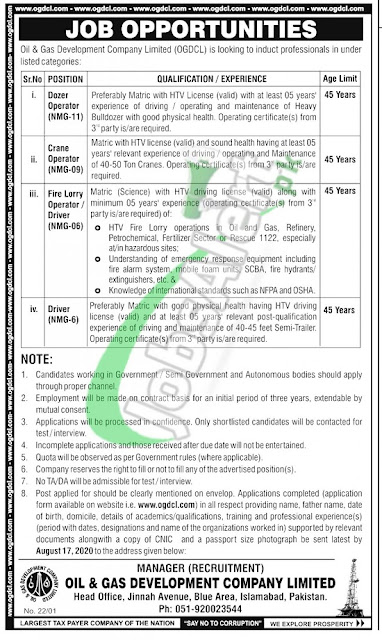 oil-and-gas-development-company-ogdcl-jobs-application-form