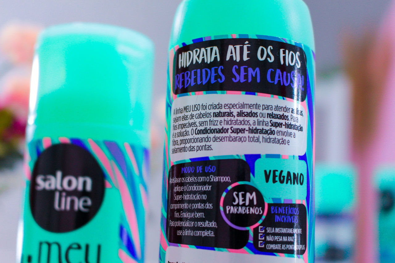 Resenha: Shampoo e Condicionador da linha Meu Liso Super Hidratação Salon Line