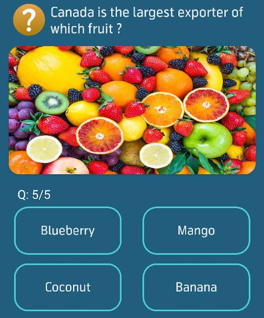Canada is the largest exporter of which fruit?