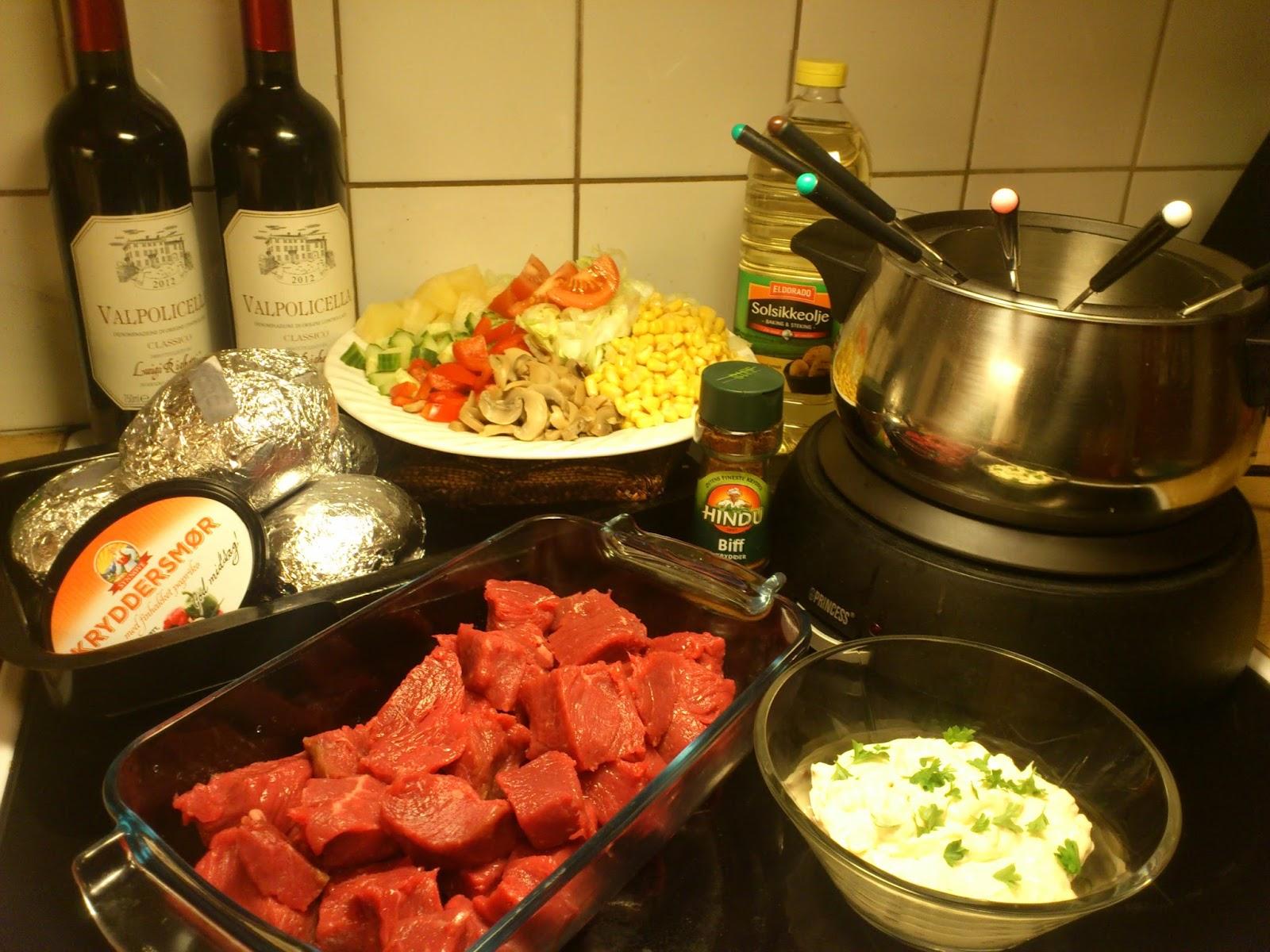 salat til fondue