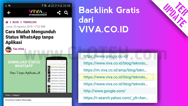 Cara Mudah Mendapar Backlink Gratis di viva.co.id