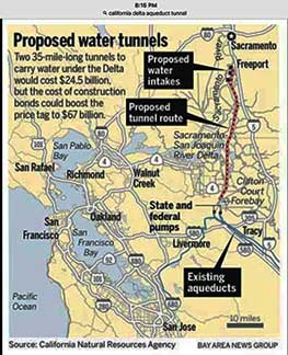 Proposed water tunnels to derisk earthquake failure risk to Sacramento Delta dikes